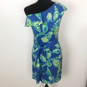 Lilly Pulitzer One Shoulder Dress, Size Small